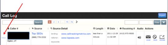 new keyword matching in call log