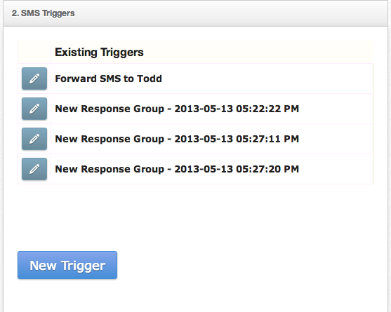 Set up SMS triggers