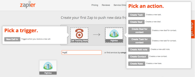 Setting up your Highrise and CTM Zap on Zapier