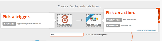 Setting up the Zoho and CTM Zap in Zapier