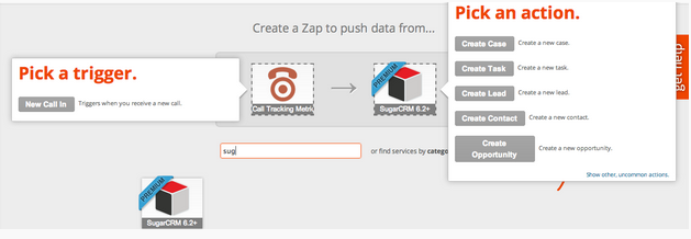 Setting up the Sugar and CTM Zap in Zapier