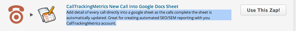 Add detail of every call directly into a google sheet as the calls complete the sheet is automatically updated. Great for creating automated SEO/SEM reporting with you CallTrackingMetrics account.