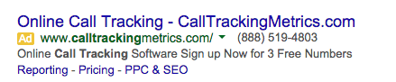 this is an example of an adwords ad copy