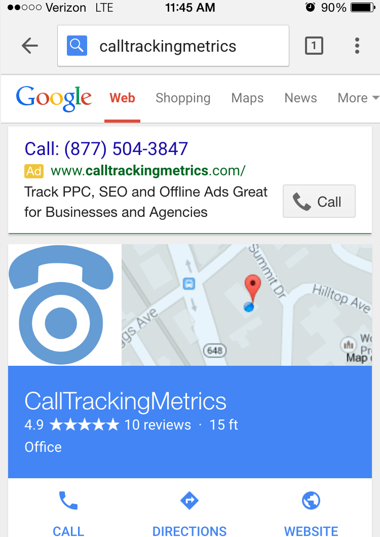 Call Only ad example