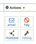 HubSpot Integration Email Client button in the Call log