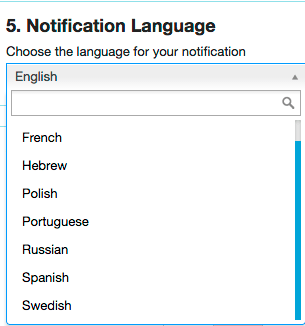 Notification language