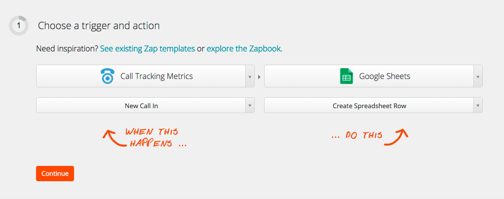 Zapier Integration with CTM screenshot
