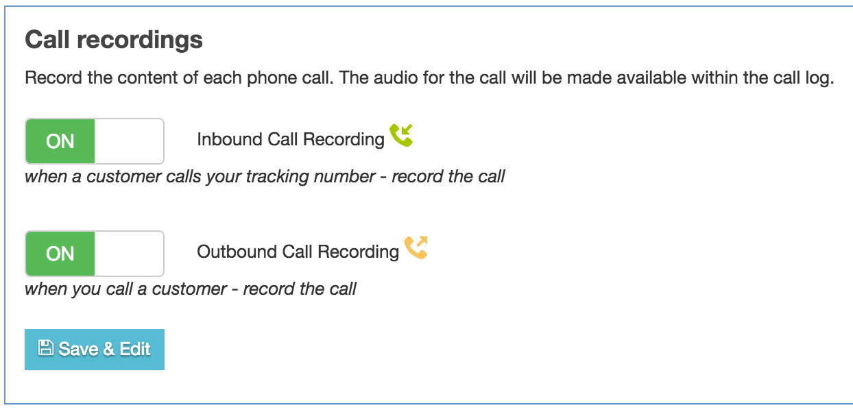 Call recordings