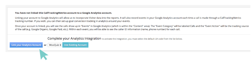 Link your Analytics account