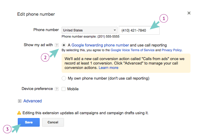 Set Up Google Integrations | CallTrackingMetrics