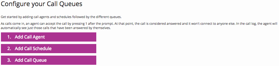 Configure call queues