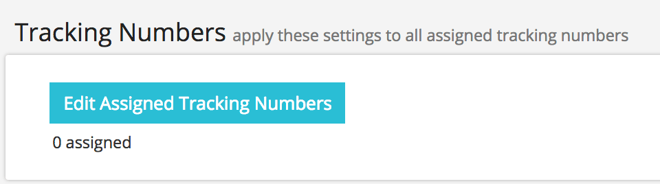 Edit Assigned Tracking Numbers