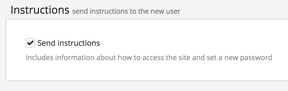 Check the Send Instructions option