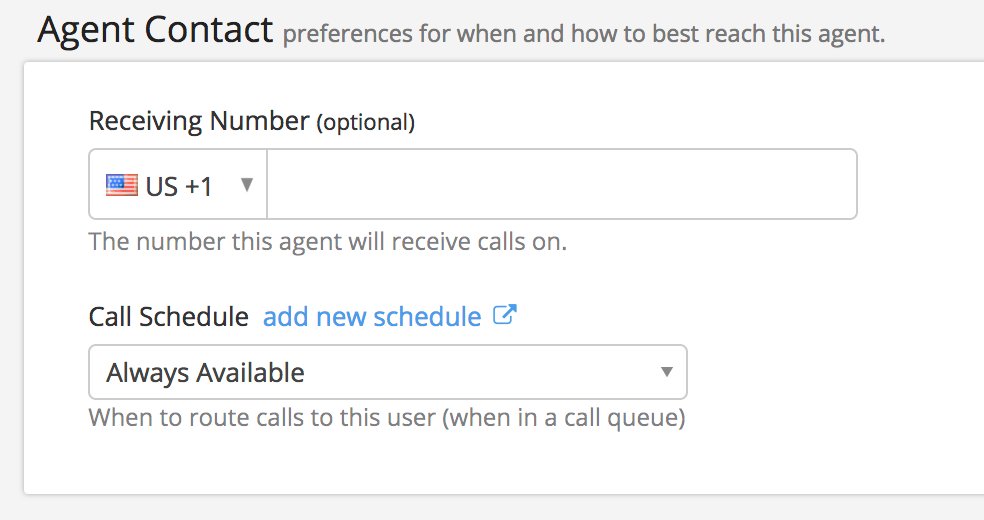 Agent Contact options