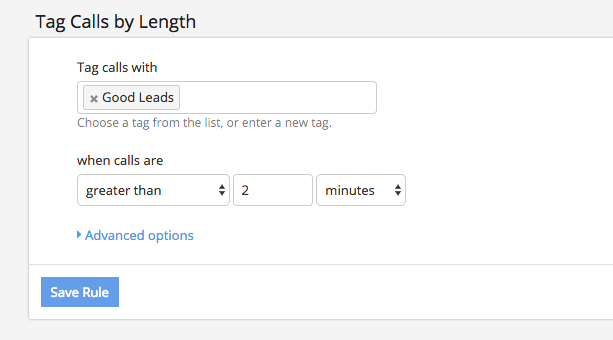 Configure a tag based on a rule