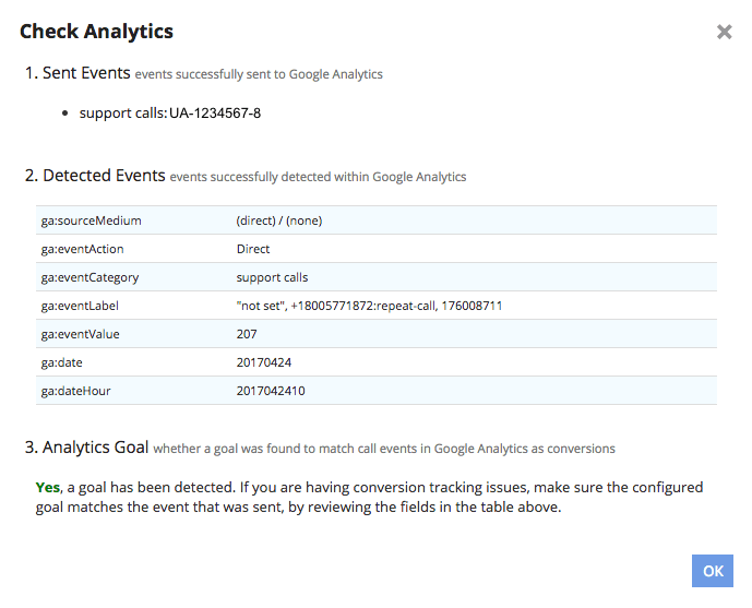 Checking Google Analytics