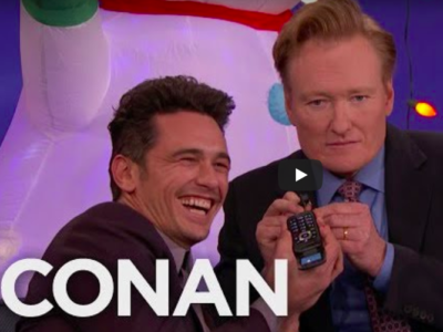 James Franco Answers Phone Call from CTM Tracking Phone Number on CONAN