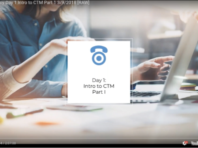 CTM Academy Day 1- Intro to CTM Part 1 [unedited recording]