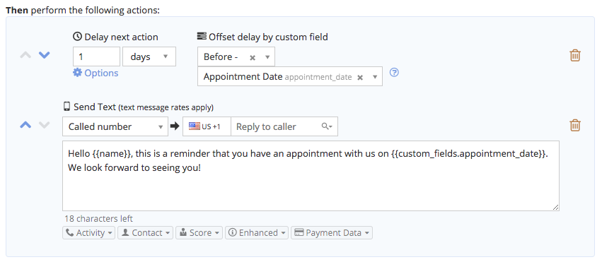 Automate the sending of appointment reminders