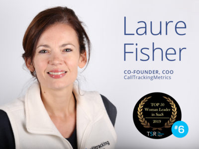 CallTrackingMetrics Co-Founder Laure Fisher Named Top Woman Leader in SaaS