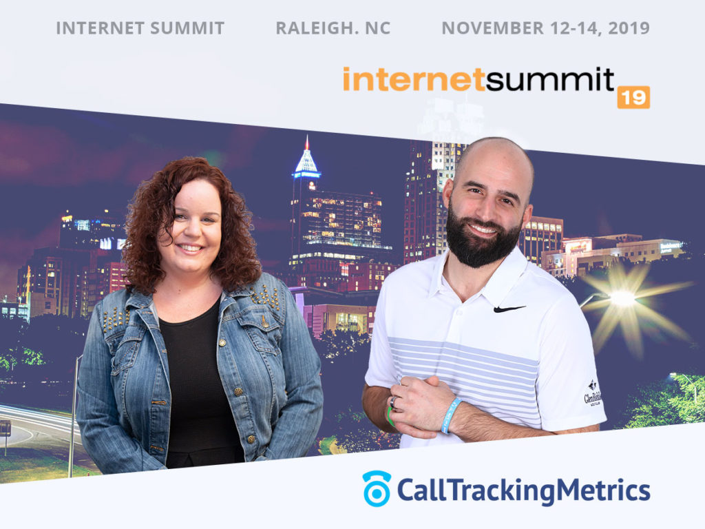 Kristina Stotler and Jonathan Morgia CallTrackingMetrics at Internet Summit 2019