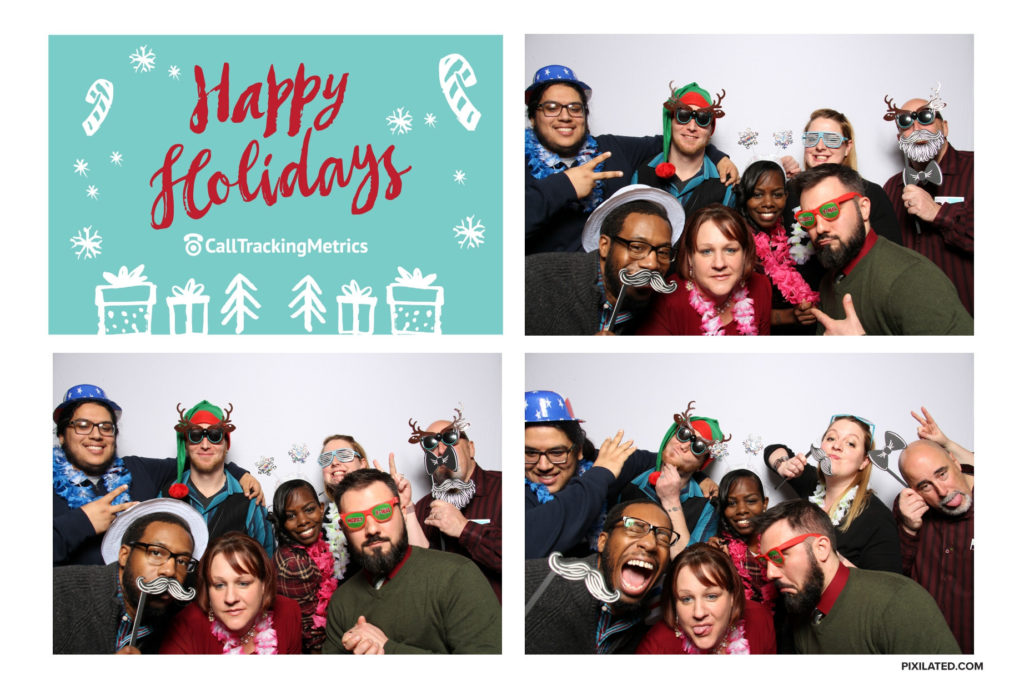 CallTrackingMetrics team holiday photo