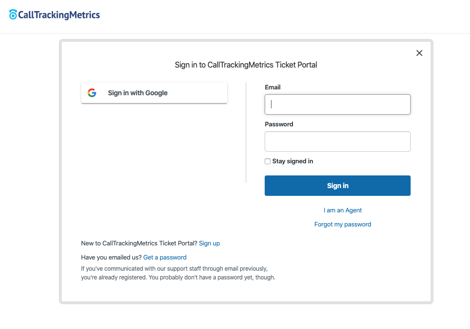 Image of the new CTM Ticket Portal