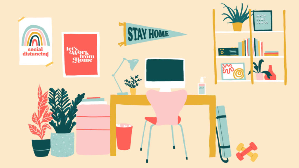 stay home zoom background