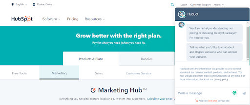 HubSpot Chat for Lead Generation