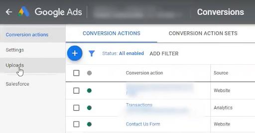 Upload Conversions